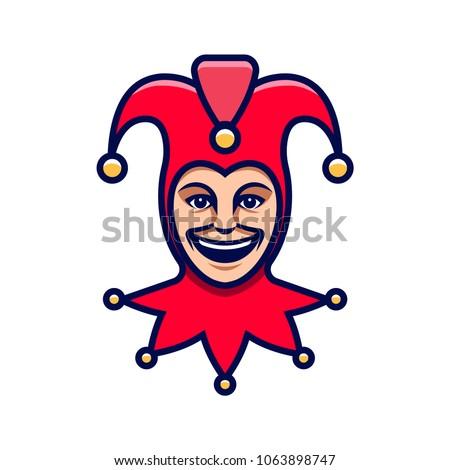 joker head jester icon