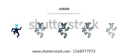 joker icon in different style