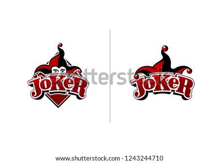 joker logo design in two