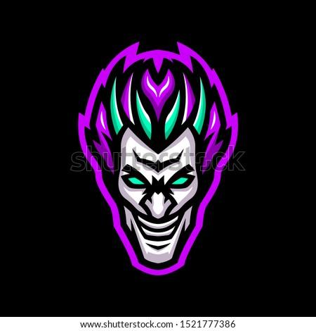 joker mascot logo for team