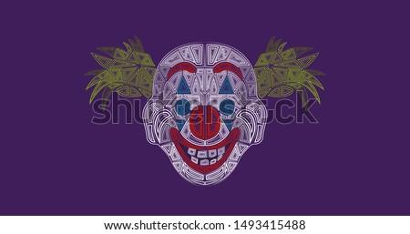 joker mask illustration
