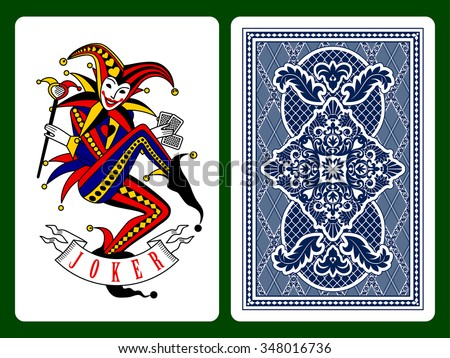 joker playing card and dark