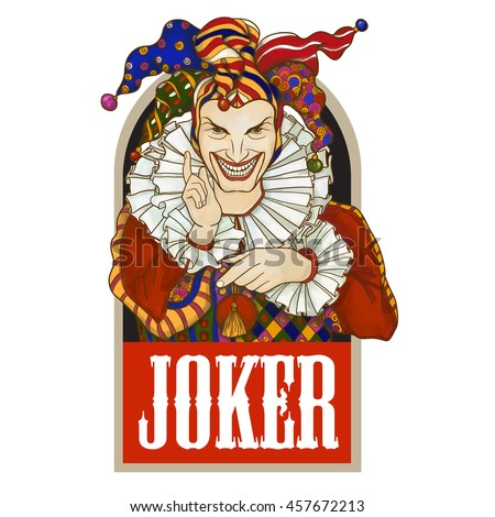 joker playing card design men