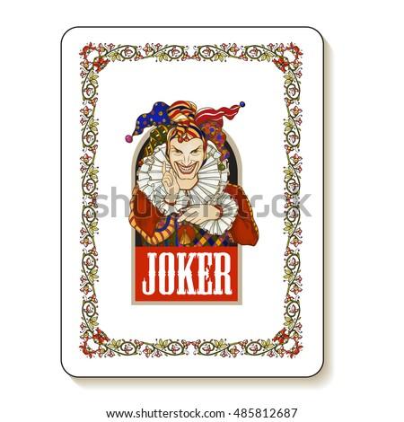 joker playing card design men