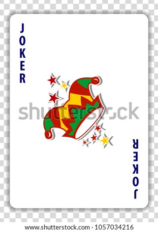 joker playing card isolated on