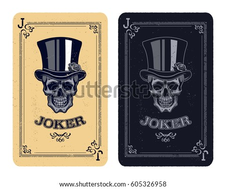 joker playing card skull poker