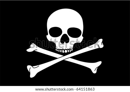 Jolly Roger on black background (close up)
