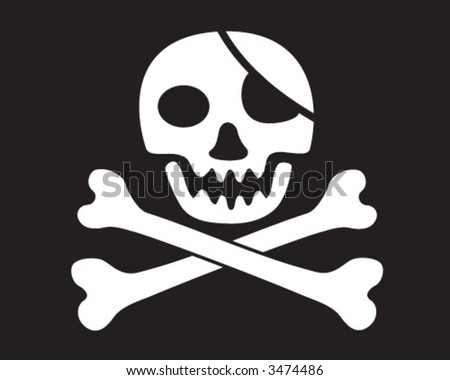jolly roger skull and crossed