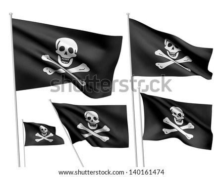 jolly roger vector flags