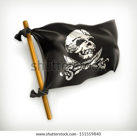 Jolly Roger vector icon