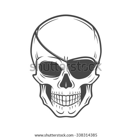 jolly roger with eyepatch logo