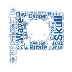 jolly roger word cloud. tag cloud about jolly roger
