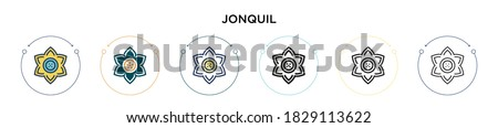 jonquil icon in filled  thin