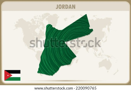 jordan map graphic vector