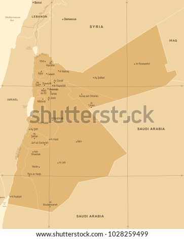 jordan map   vintage high...