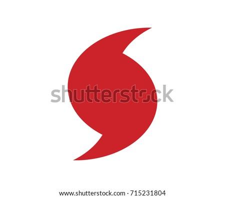 Jose Hurricane red symbol. Flat vector illustration EPS 10