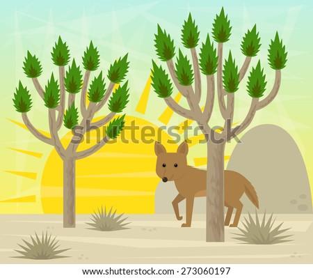 joshua tree and coyote