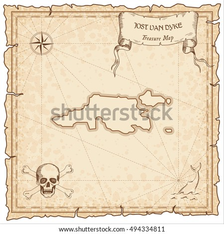 jost van dyke old pirate map