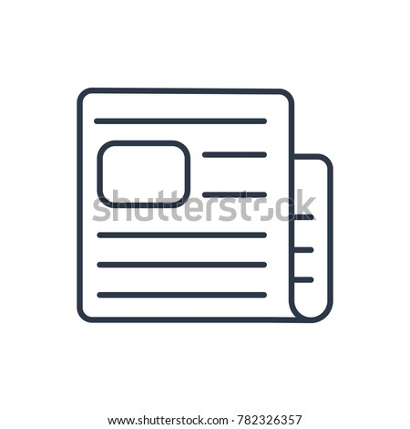 Journalism icon. Isolated media industry and journalism icon line style. Premium quality vector symbol drawing concept for your logo web mobile app UI design. - Shutterstock ID 782326357
