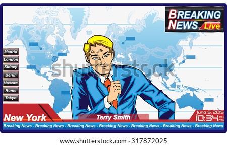 journalist man of breaking news