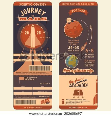 journey to mars boarding pass