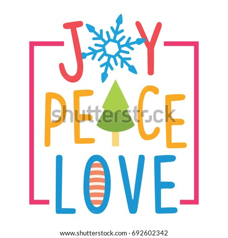 joy peace love cartoon