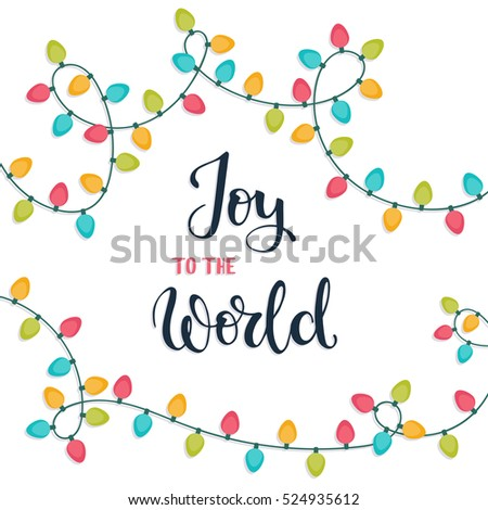 joy to the world. christmas...