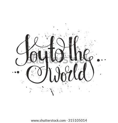 joy to the world   handdrawn