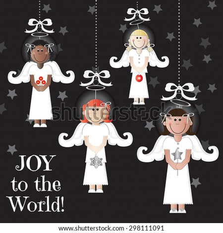 joy to the world   set of 4