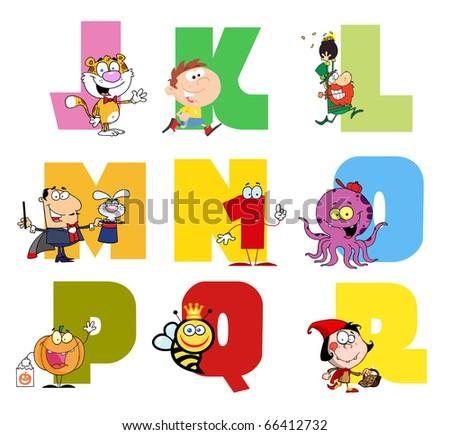 Joyful Cartoon Alphabet Collection 2