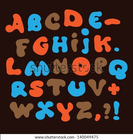joyful cartoon font   letter