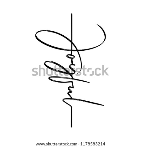 Joyful - lettering message. Hand drawn phrase. Handwritten modern brush calligraphy. Good for tattoo, social media, posters, greeting cards, banners, textiles, gifts, T-shirts, mugs or other gifts.