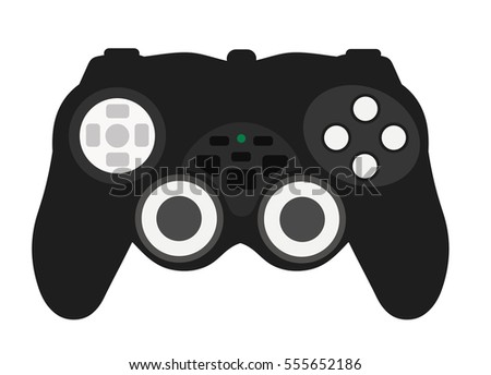 joypad game console on a white
