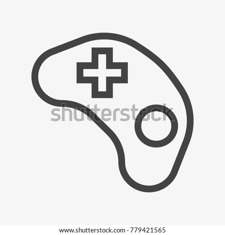 joystick button vector icon