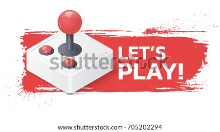 joystick gamepad on grunge
