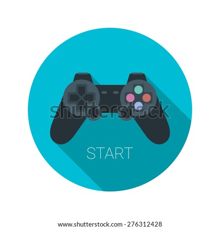 joystick icon flat vector app
