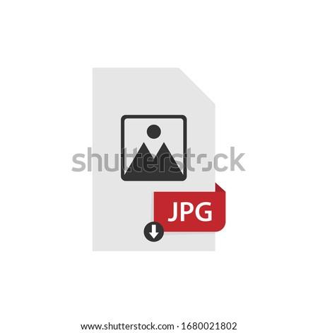 JPG download file format vector image. JPG file icon flat design graphic vector Сток-фото ©