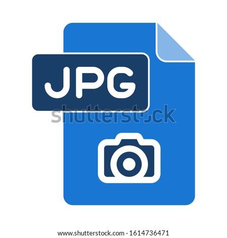jpg icon. flat illustration of jpg vector icon. jpg sign symbol Сток-фото ©