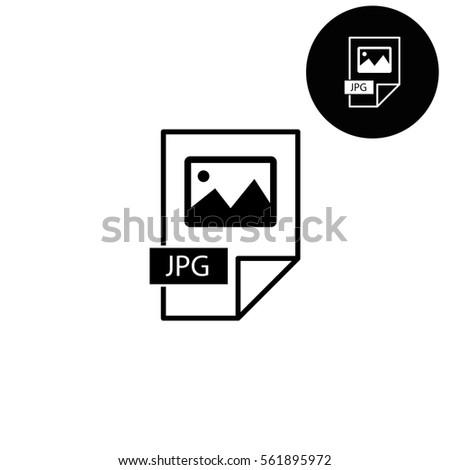 jpg icon  - white vector icon Сток-фото ©