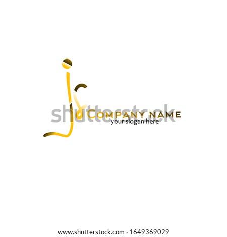 js initial logo signature vector. Handwriting concept logo Stock fotó ©