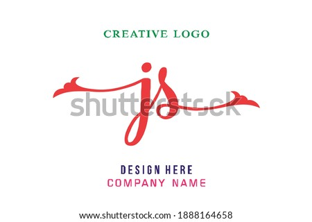JS lettering logo is simple, easy to understand and authoritative Stock fotó ©