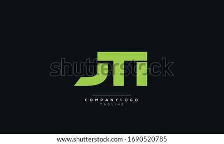 JTI J T I Letter Logo Alphabet Design Template Vector