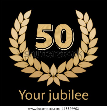 Jubilee, golden laurel wreath 50 years