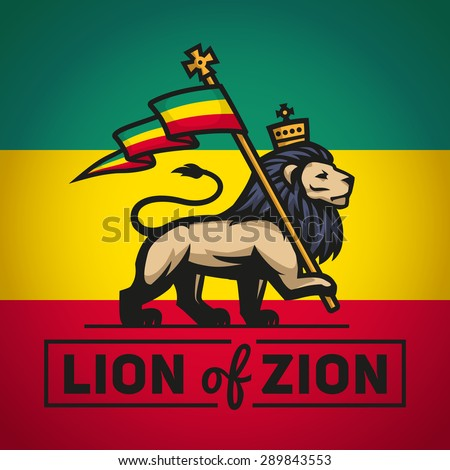 judah lion with a rastafari