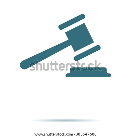 Judge Gavel icon isolated. Trendy legal symbol for website. Modern simple flat low sign. Business, internet concept. Trendy court vector legal symbol for web site. Logo illustration.