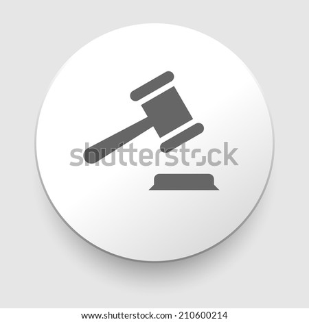 judge or auction hammer icon. EPS10 illustration vector