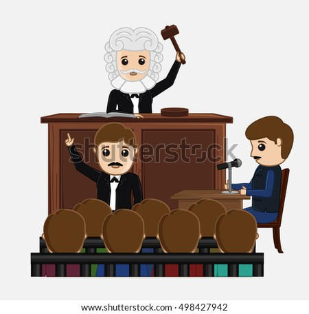 judge striking on desk in