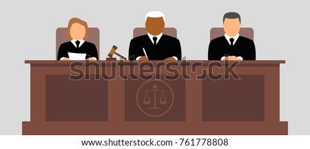 Judges vector icon