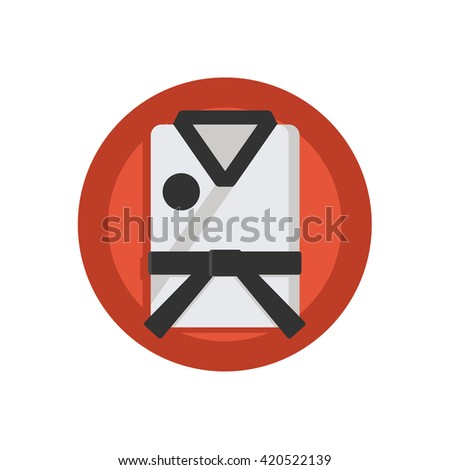 Judo Illustration - Flat Icon