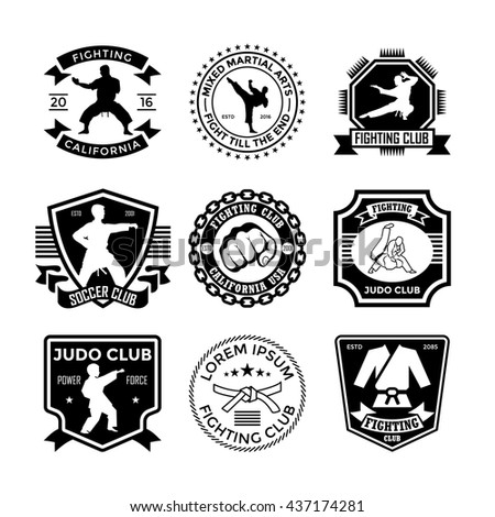 judo vector icons 21